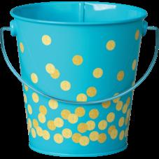 Teal Confetti Bucket