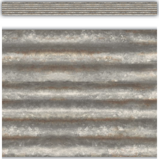 Corrugated Metal Straight Border Trim
