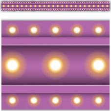 Purple Marquee Straight Border Trim