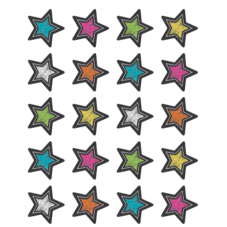Chalkboard Brights Stars Stickers