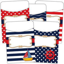 Nautical Library Pockets - Multi-Pack