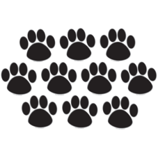 Black Paw Prints Accents