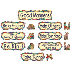 Good Manners Mini Bulletin Board from Susan Winget