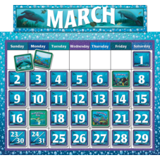 Classroom Calendar Bulletin Board from Wyland