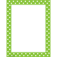 Lime Polka Dots Computer Paper