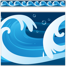 Ocean Waves Straight Border Trim