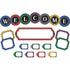 Plaid Welcome Mini Bulletin Board