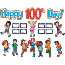 Fireworks Happy 100th Day Bulletin Board Display Set