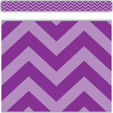 Purple Chevron Straight Border Trim