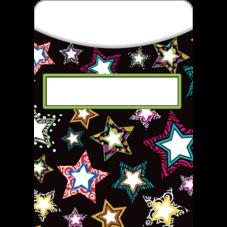 Fancy Stars Library Pockets