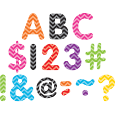 """Chevron Classic 2"""" Letters Uppercase Pack"""