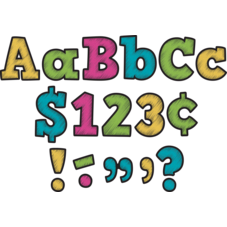 "Chalkboard Brights Bold Block 4"" Letters Combo Pack"