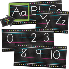 Chalkboard Brights Alphabet Line Bulletin Board Set