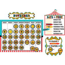 Carnival Calendar Bulletin Board Display Set