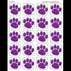 Purple Paw Prints Stickers