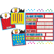 Superhero Counting 0-31 Bulletin Board Display Set