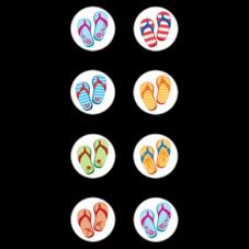 Flip Flops Mini Stickers