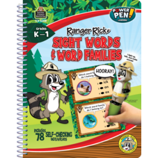 Ranger Rick Power Pen Learning Bk: Sight Words/Word Families