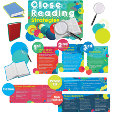 Close Reading Strategies Bulletin Board Display Set