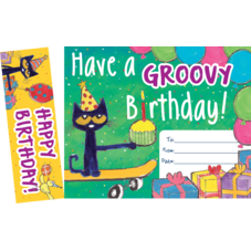 Pete the Cat Groovy Birthday Bookmark Awards