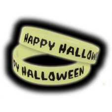 Happy Halloween Glow-in-the-Dark Wristbands 10-Pack