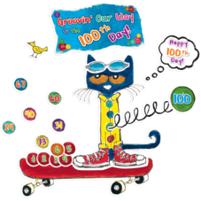 Pete the Cat 100 Groovy Days of School Bulletin Board