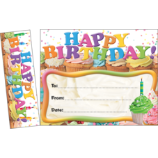 Happy Birthday Cupakes Bookmark Awards