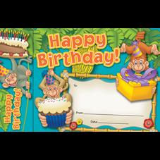 Happy Birthday Monkeys Bookmark Awards