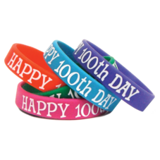Happy 100th Day Wristbands