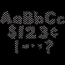 """Black/White Dot 4"""" Fun Font Letters"""