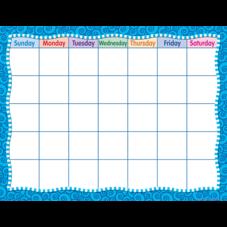 Blue Swirls Calendar Chart