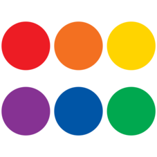 """Spot On Colorful Circles Carpet Markers - 7"""""""