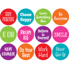 """Spot On Positive Sayings Carpet Markers - 4"""""""