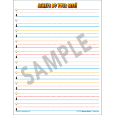 Superhero Smart Start 1-2 Writing Paper: 100 Sheets