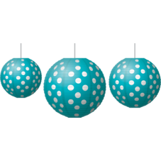 Teal Polka Dots Paper Lanterns