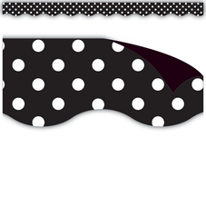 Black Polka Dots Magnetic Borders