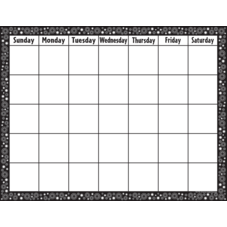 Black & White Crazy Circles Calendar Chart