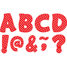 """Red Polka Dots Funtastic Font 3"""" Magnetic Letters"""