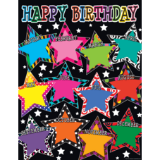 Fancy Stars Happy Birthday Chart