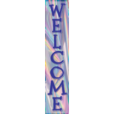 Iridescent Welcome Banner