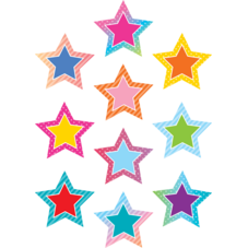 Colorful Vibes Stars Accents
