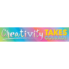 Colorful Vibes Creativity Takes Courage Banner