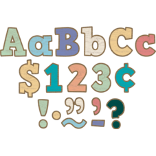 """Painted Wood Bold Block 4"""" Letters Combo Pack"""
