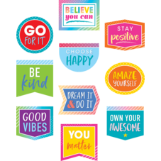 Colorful Vibes Positive Sayings Accents