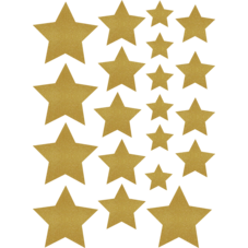 Gold Shimmer Stars Assorted Sizes Accents
