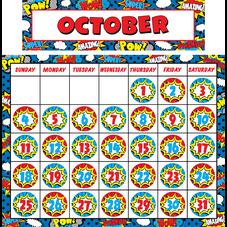 Superhero Calendar Set