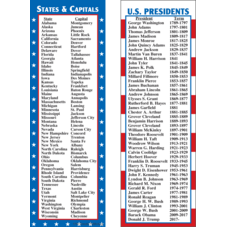 States & Capitals/Presidents Smart Bookmarks