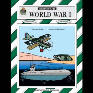 TCR0598 World War I Thematic Unit Image