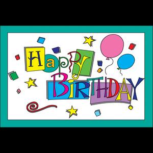TCR1201 Happy Birthday Postcards Image