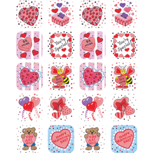 TCR1258 Valentine's Day Stickers Image